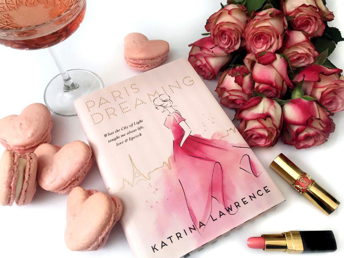 katrina lawrence the paris-dreamer book cover flatlay