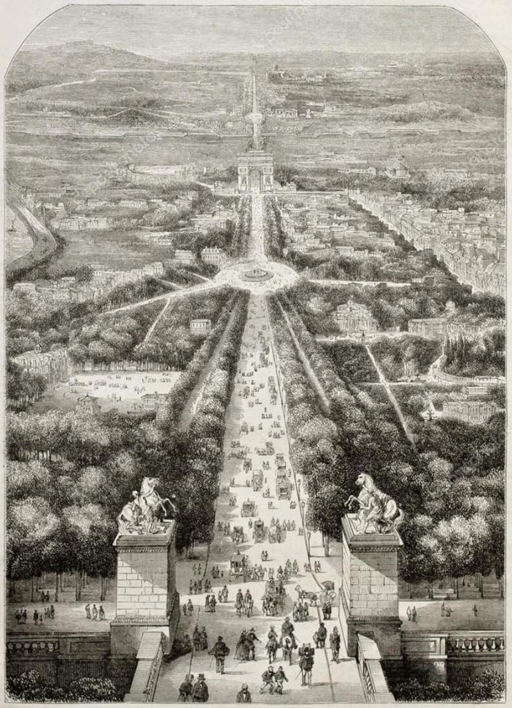 Champs Elysees 1850
