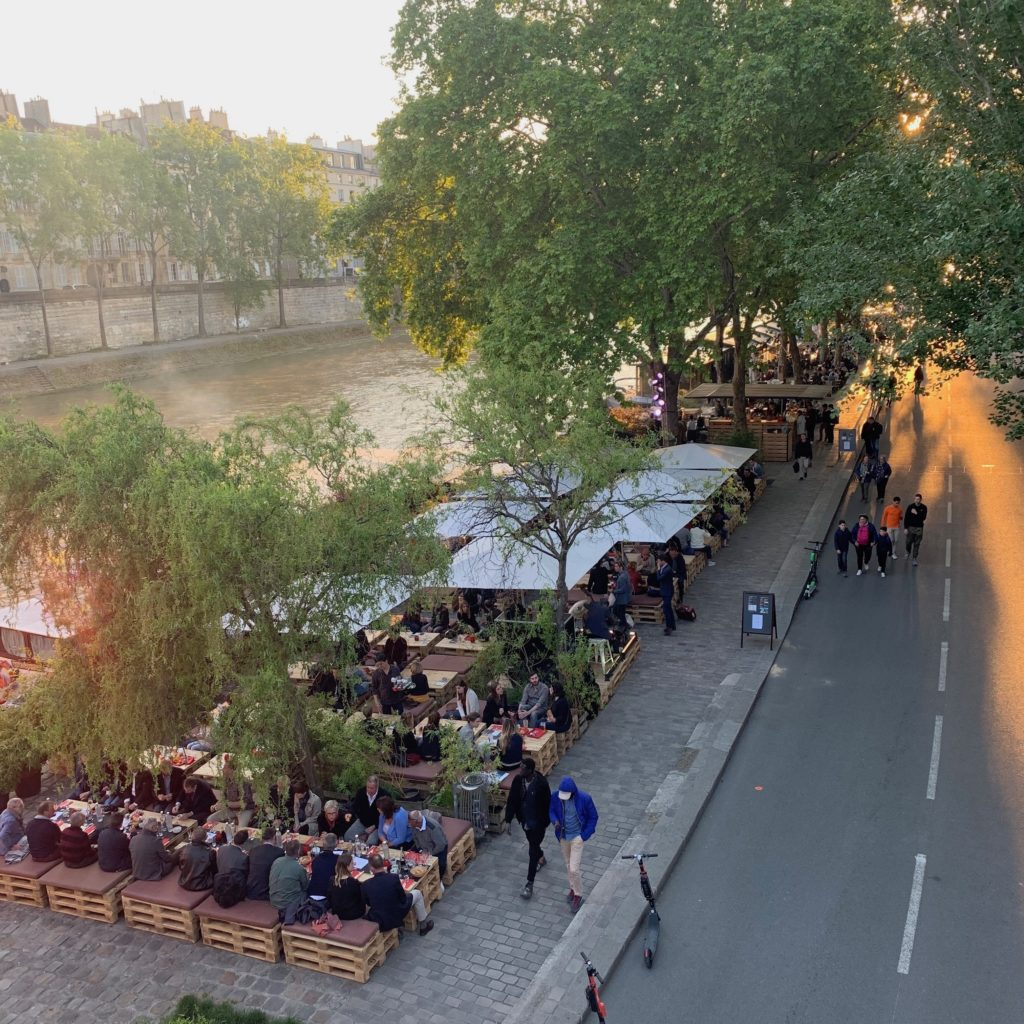 Drinks by the Seine Paris