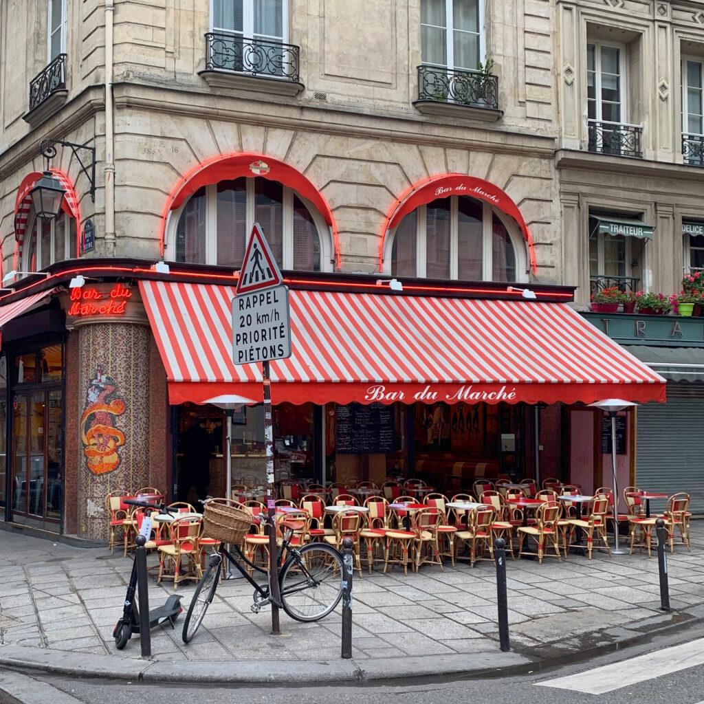 Paris terraces Bar du Marché
