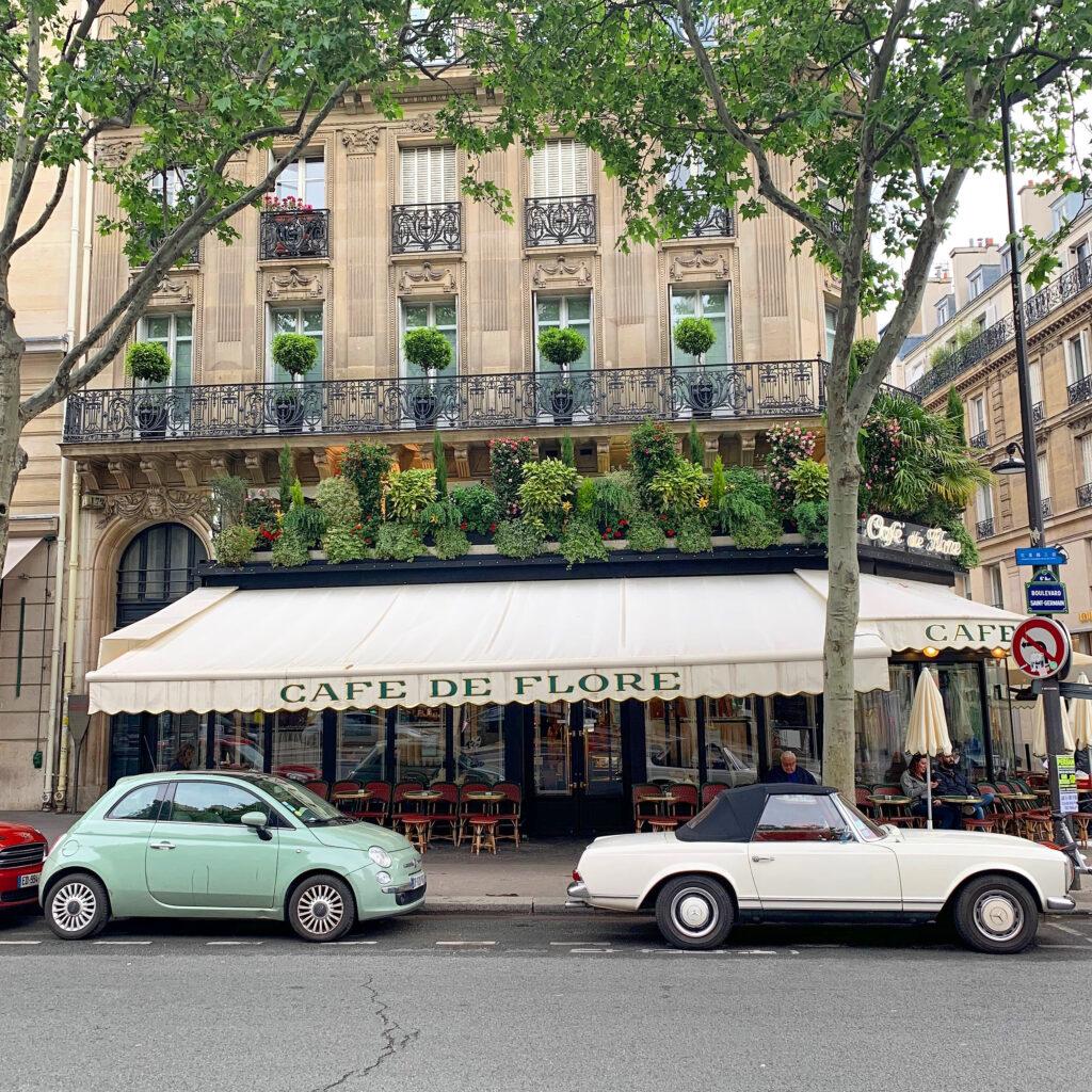 Paris terraces Cafe de Flore
