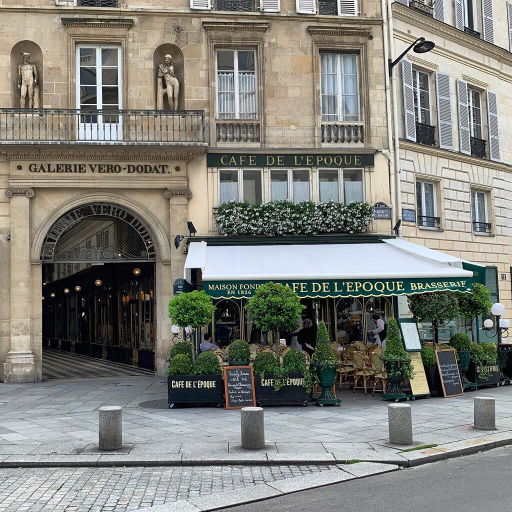 Paris terraces Cafe de l'Epoque