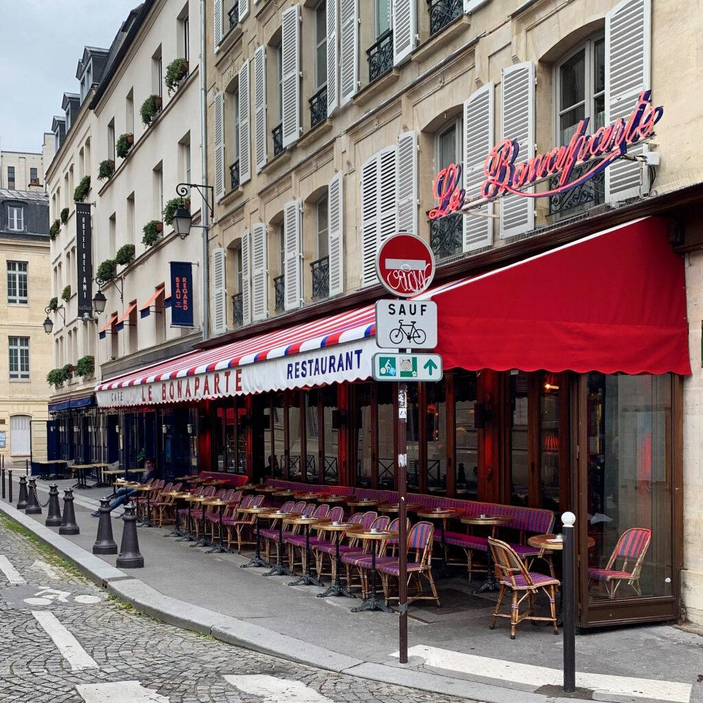 Paris terraces Café Bonaparte