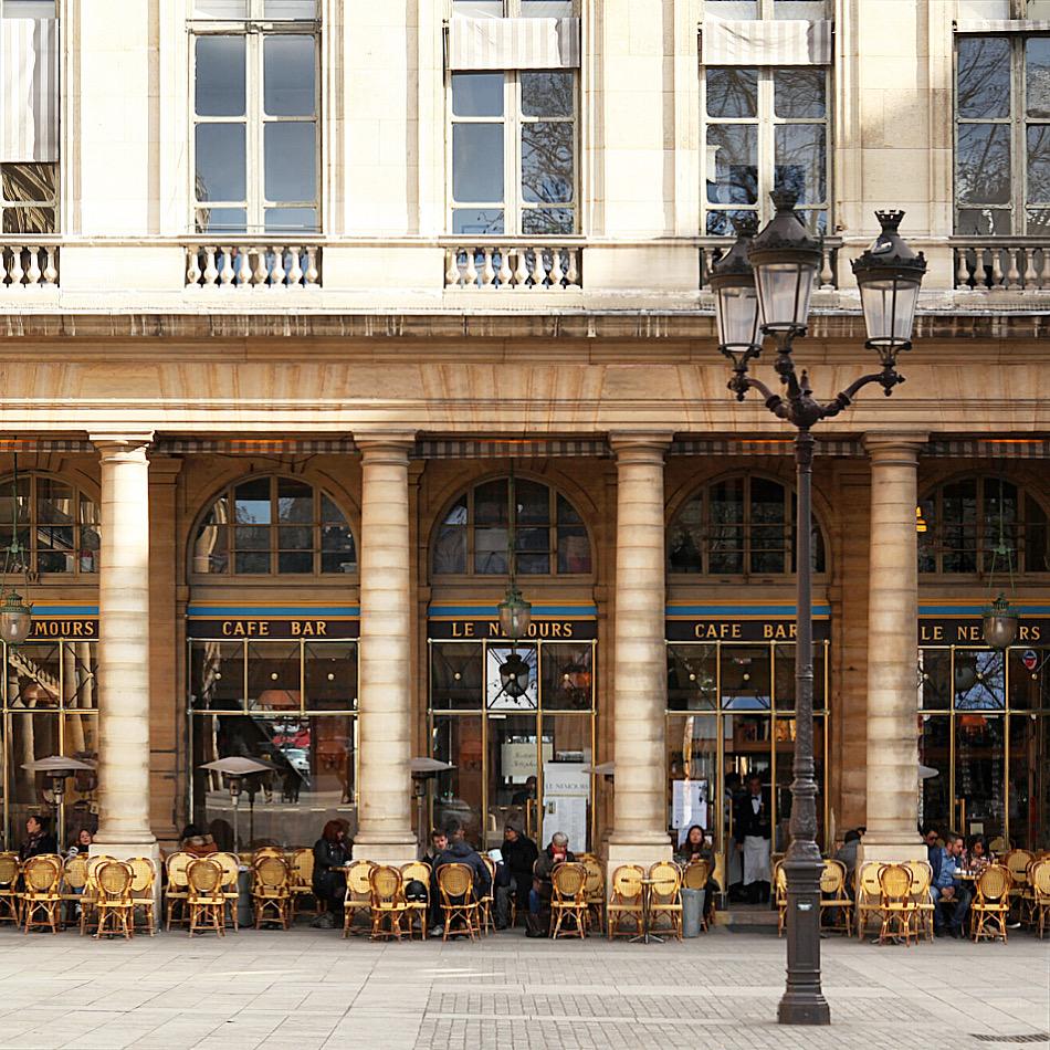 Paris terraces Le Nemours