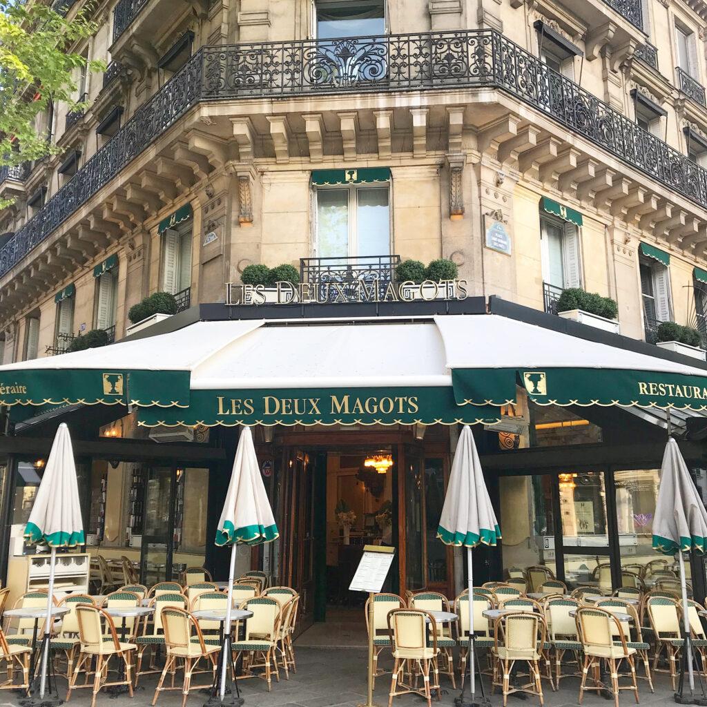 Paris terraces Les Deux Magots