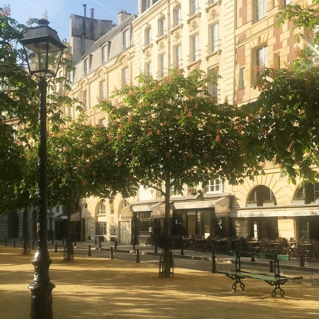Paris terraces Place Dauphine
